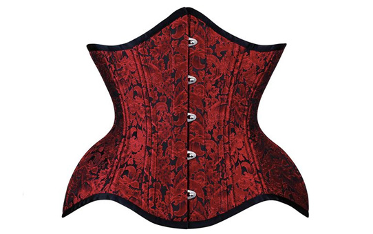 Curvy Waist Trainer Under Bust Red Brocade